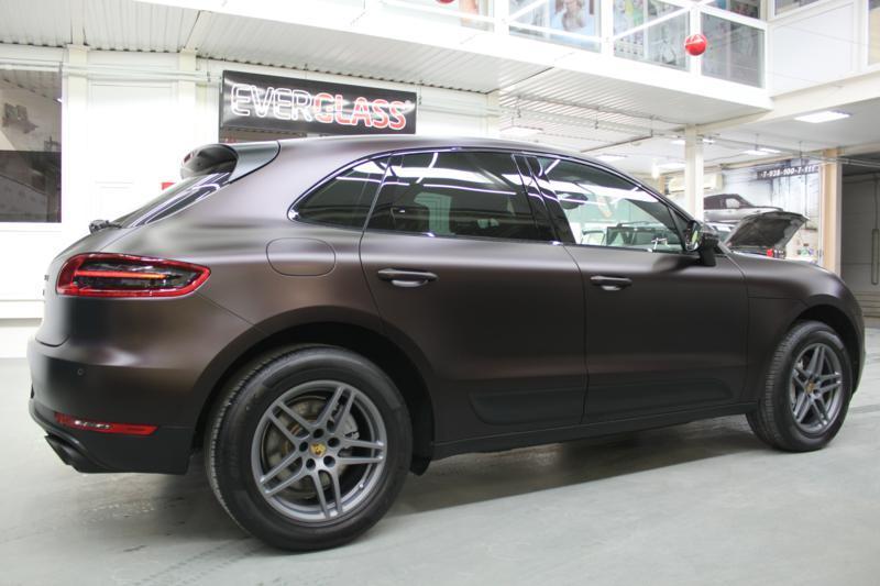 Защита всего кузова  Porsche Macan матовой пленкой DYNOmatt