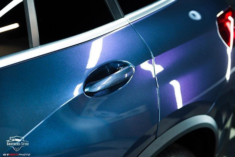 Защита и стайлинг кузова BMW X5 пленкой DYNOprism
